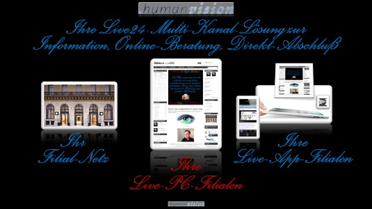 Anbieter-Live-24-Filialen der Human Vision AG