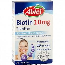 ABTEI Biotin 10 mg Tabletten, Packungsinhalt 30 Stück