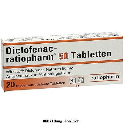 diclofenac ratiopharm 50 mg magensaftres tabl packungsinhalt 20 st ck linden apotheken nierstein. Black Bedroom Furniture Sets. Home Design Ideas