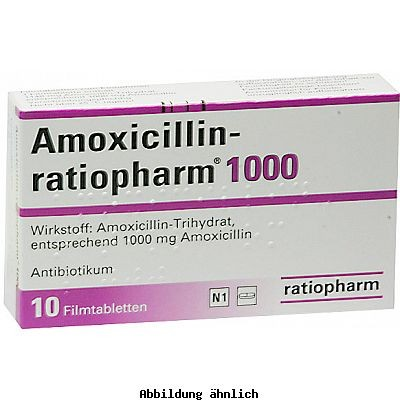 amoxicillin ratioph 1000 mg filmtabletten packungsinhalt 10 st ck linden apotheken nierstein. Black Bedroom Furniture Sets. Home Design Ideas